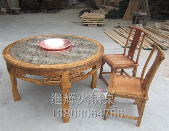 大理石火锅桌--新都区清流镇继辉家具厂